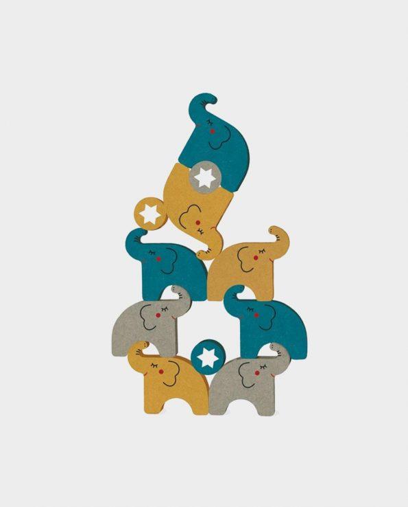 Juego de equilibrio para niños de madera con elefantes Alehop! de Londji