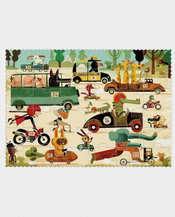Puzzle de carreras para niños Vroom Vromm Londji