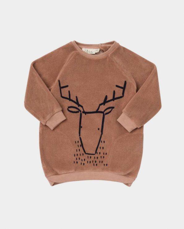 Vestido Baby Clic Rudolf para niña y niño de algodón orgánico