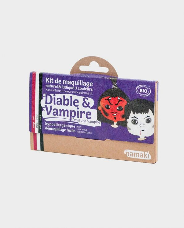 Kit de Maquillaje para niños ecológicos sin tóxicos Diablo y Vampiro Namaki