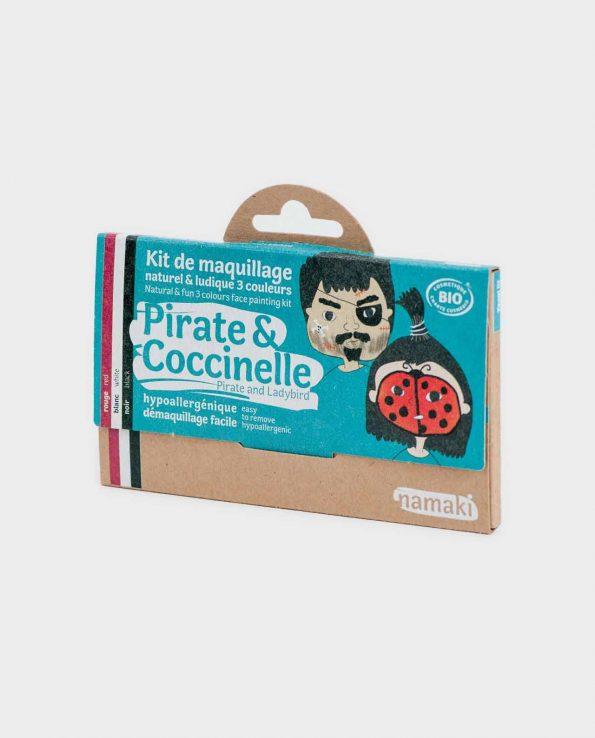 Kit de Maquillaje para niños ecológicos sin tóxicos Pirata y Mariquita Namaki