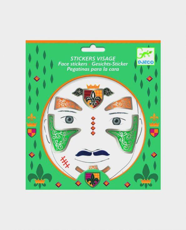 Set de pegatinas para la cara para niños ecológicas sin tóxicos Djeco Caballero