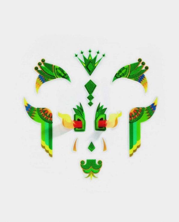 Set de pegatinas para la cara para niños ecológicas sin tóxicos Djeco Dragón