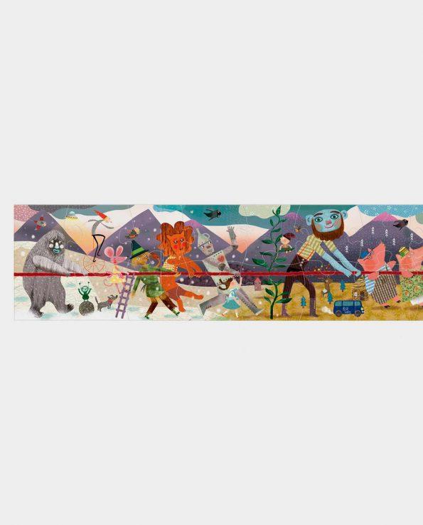 Puzzle para niños horizonal gigante de 2 metros 1,2,3 go! Puzzle Londji