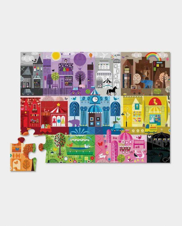 Color City floor puzzle Ciudad de colores para encontrar figuras y colores puzzle de niños