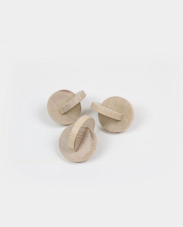 Juguete montessori de discos de madera interconectados