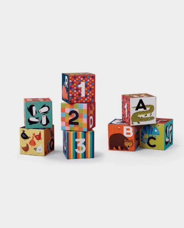 Jumbo Block Set Animales Set bloques con letras y dibujos de animales para niños montessori Crocodile Creek