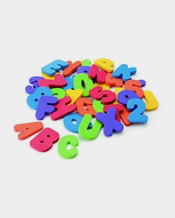 Letras y números para niños para el baño