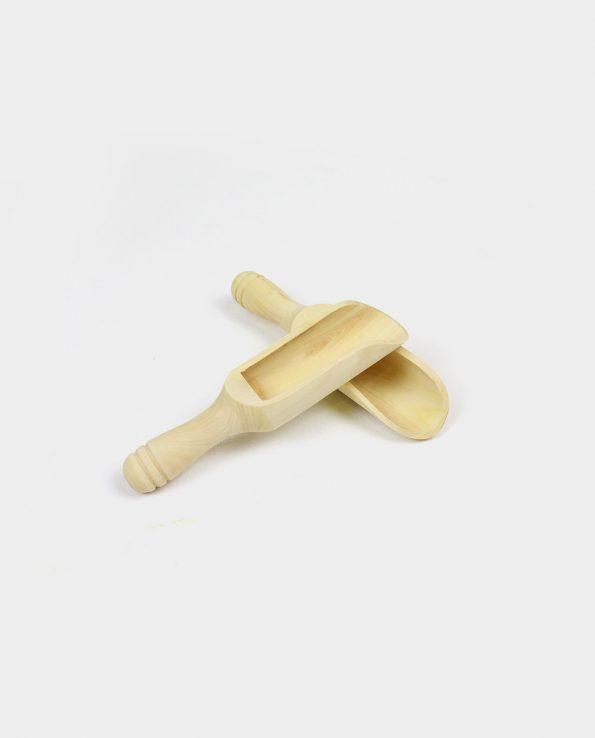 Juguete montessori pala de boj de madera para niño