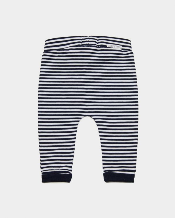 Pantalón cómodo de algodón orgánico para bebé y niño moderno color básico de la marca Noppies