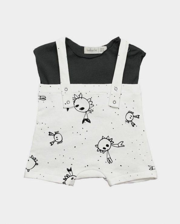 Peto mas camiseta de niño de verano Crabs de Clic Mini