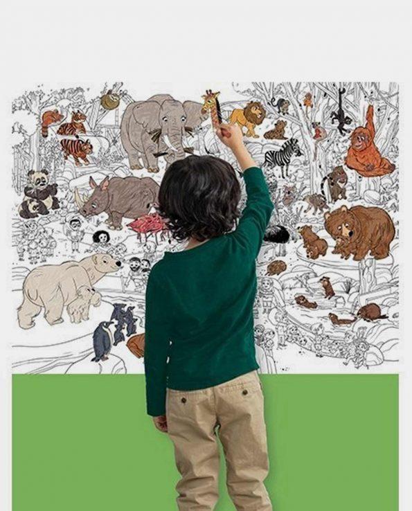 Poster gigante para colorear un zoo de Crocodile Creek
