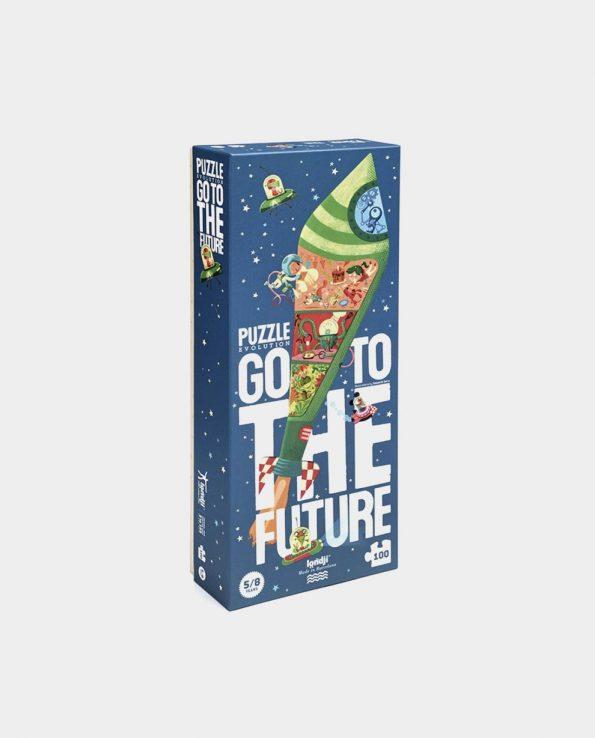 Puzzle para niños del espacio y planetas Go to the future de Londji