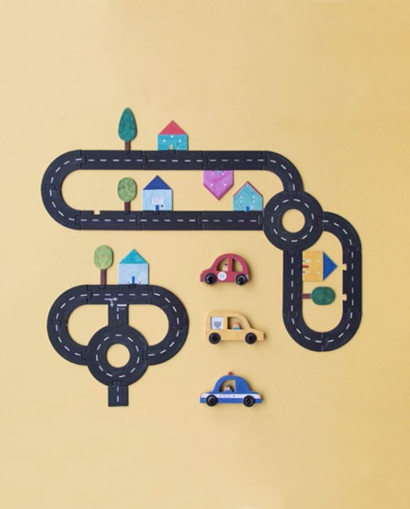 Puzzle para niños carreteras y coches Roads de Londji