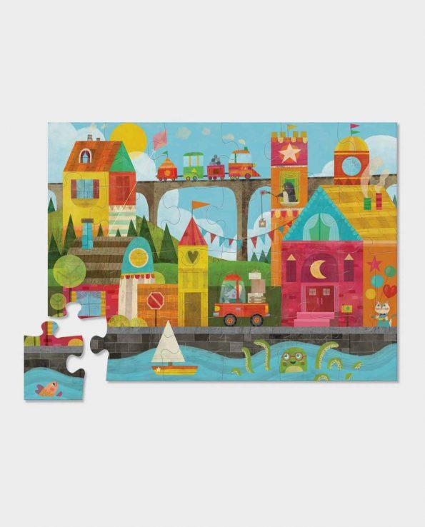 Shape town floor puzzle para encontrar figuras puzzle de niños