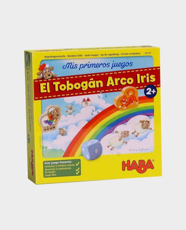 Juego de mesa para niños El tobogán Arco Iris de Haba