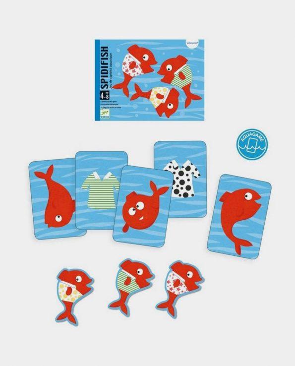 Juego de cartas para niños acuaticas