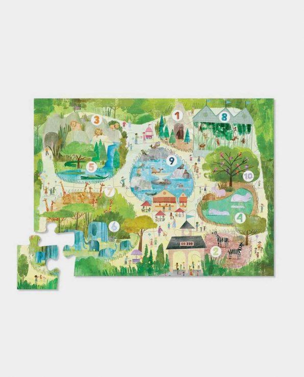 Puzzle para niños con animales en el Zoo de Crocodile Creek