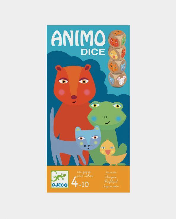 Juego de cartas y dados para niños Animo Dice de Djeco