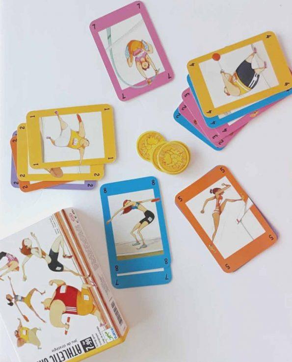 Juego de cartas para niños Athletic games de Djeco