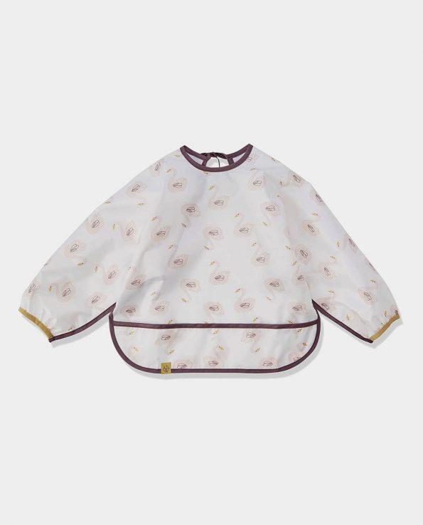 Babero impermeable con mangas de la marca Lassig modelo Cisnes