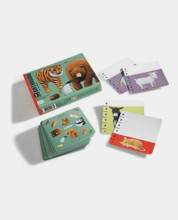 Juego de cartas para niños Batamino de Djeco