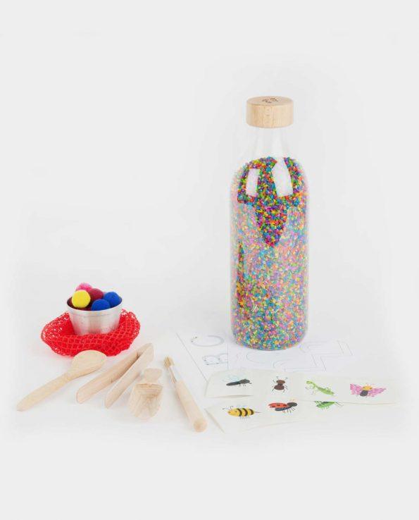 Botella sensorial TOUCH BOTTLE WOW con Accesorios