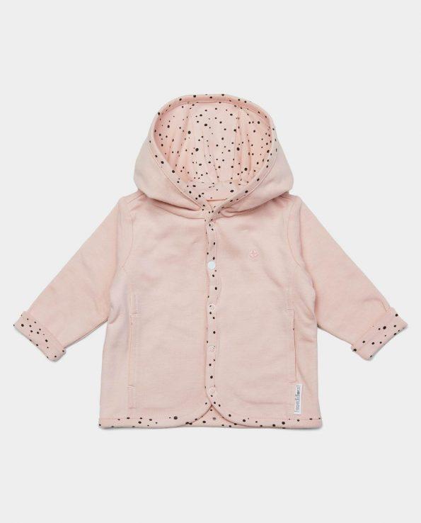 chaqueta reversible de algodón orgánico para bebés y niño verde mint de Noppies