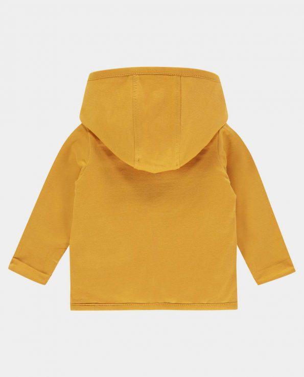 chaqueta reversible de algodón orgánico para bebés y niño amarilla ocre de Noppies