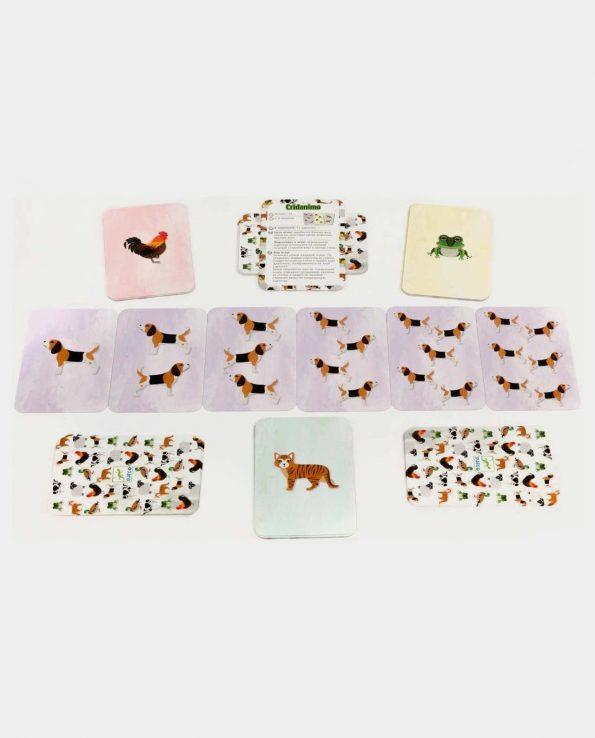 Juego de cartas para niños animales cardanimo de Djeco
