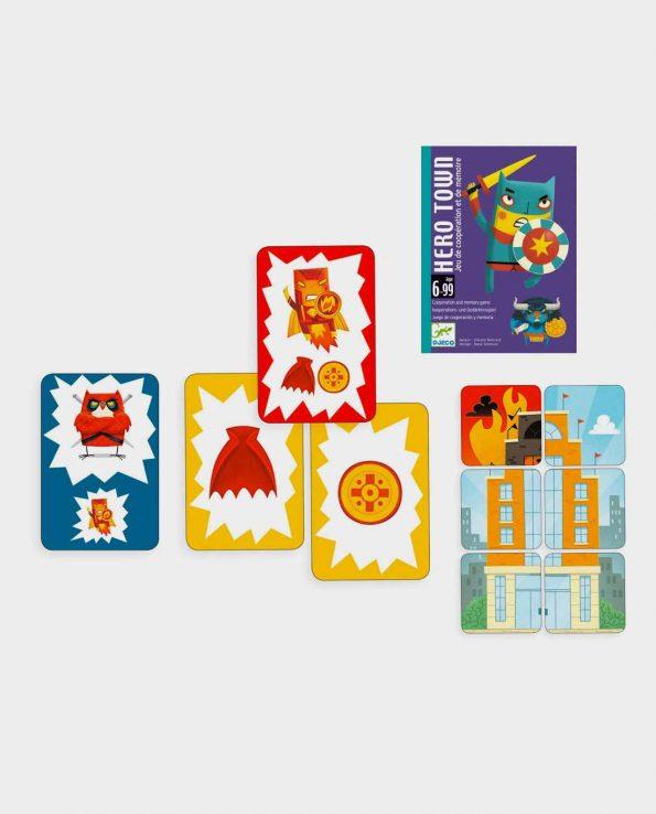 Juego de cartas para niños Hero Town de Djeco