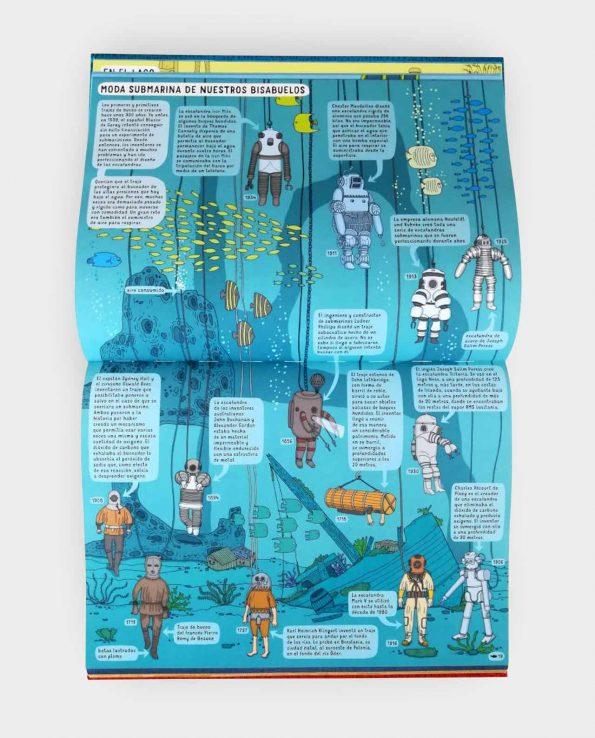 Libro infantil reversible para conocer los animales del agua y de la tierra. Debajo de la tierra debajo del agua