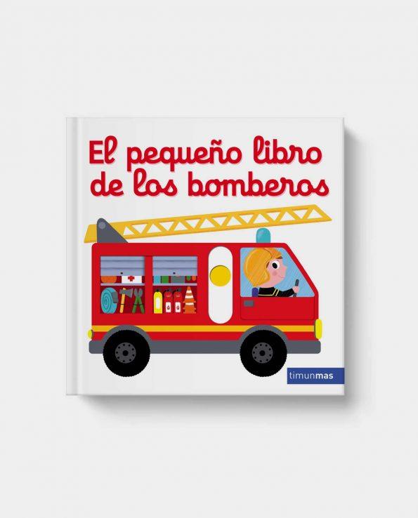 Libro con pestañas y solapas para bebés y niños de animales El pequeño libro para los bomberos de Timun Mas