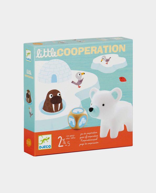 Juego de mesa cooperativo para niños iglus oso polar Little Cooperation de Djeco
