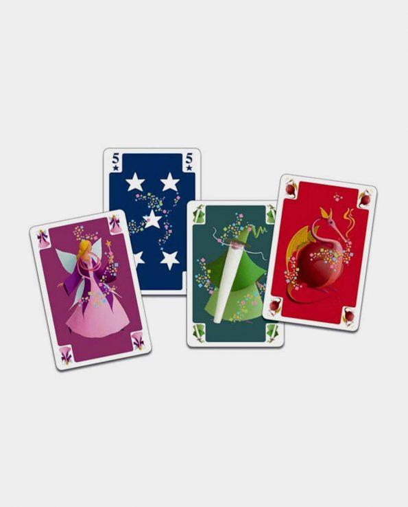 Juego de cartas magos y hadas Merlín Mini Magic Djeco