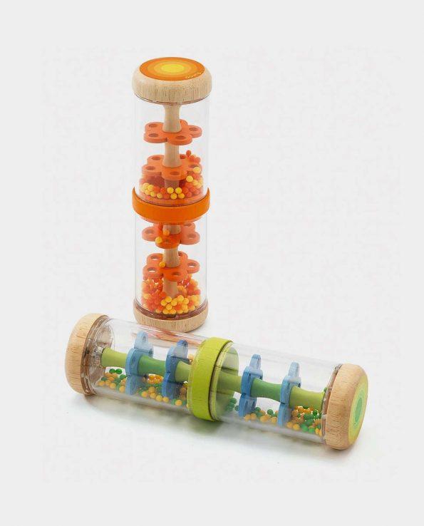 Palo de lluvia naranja de madera para niño de djeco