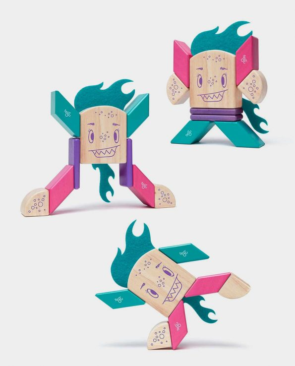 10 Piezas Magnéticas Sticky Monster Flinklebear TEGU