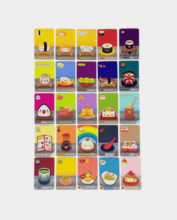 Juego de mesa para niños con cartas Sushi Go!