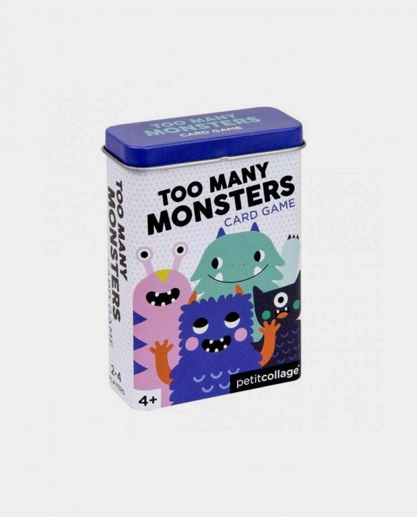 Juego de cartas para niños Too Many Monsters Card Game