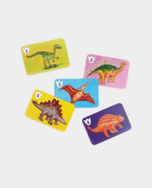 Juego de cartas Batasaurus con dibujos dinosaurios Djeco