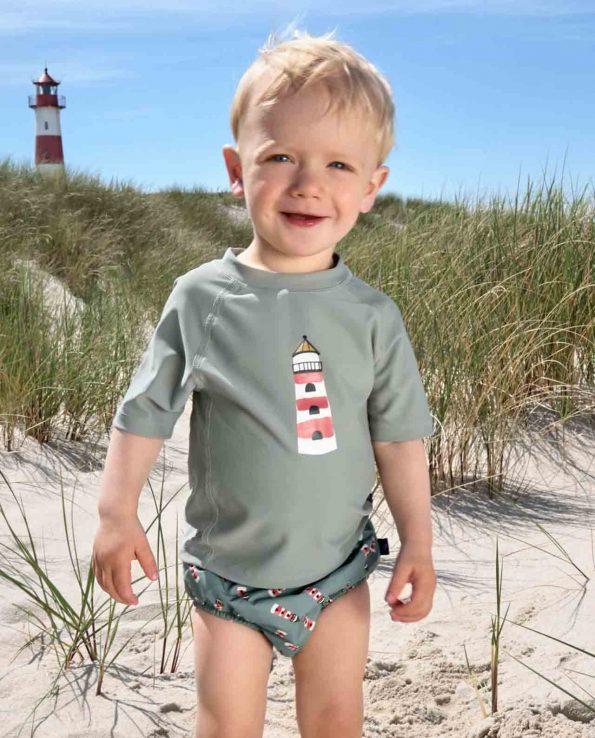 Camiseta de baño para niños con protección 50 de Lassig Lighthouse