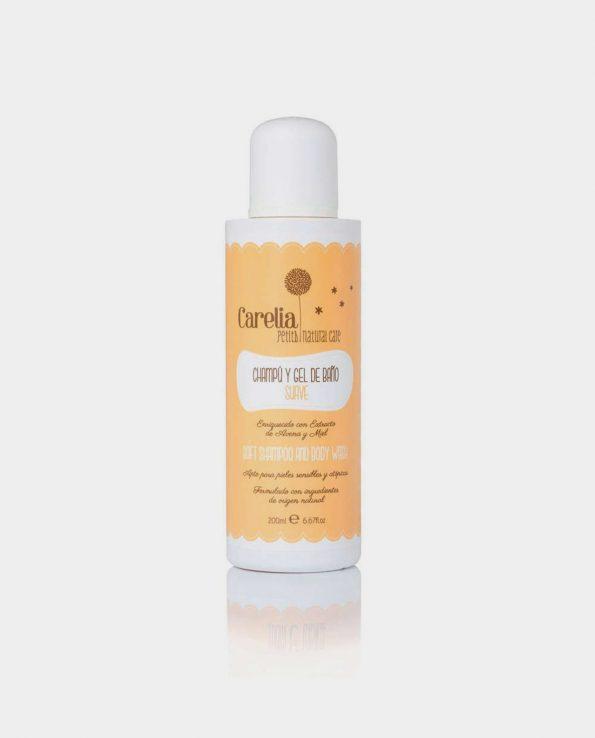 Champu y gel de baño para niñonatural ecologico sin toxico de Carelia