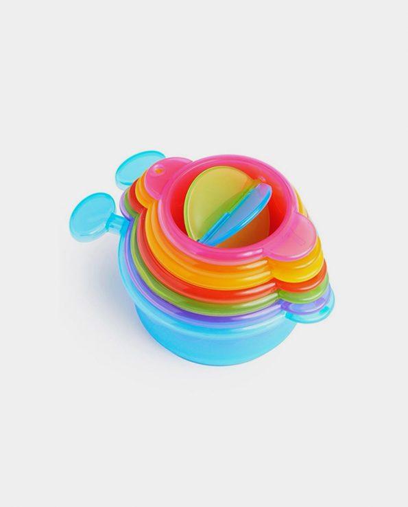 Juguete de baño para niños coladores ciempies de colores