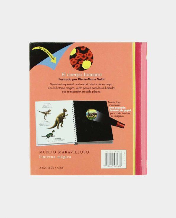 Libro infantil para niños con trasnparencias sobre las manzanas y frutas de SM Libro infantil para niños con trasnparencias sobre el cuerpo humano de SM