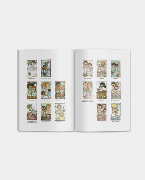 Libro ilustrado de Oh mamy blue Familias