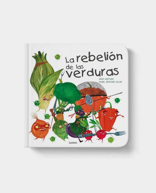 Libro infantil la revelión de las verduras