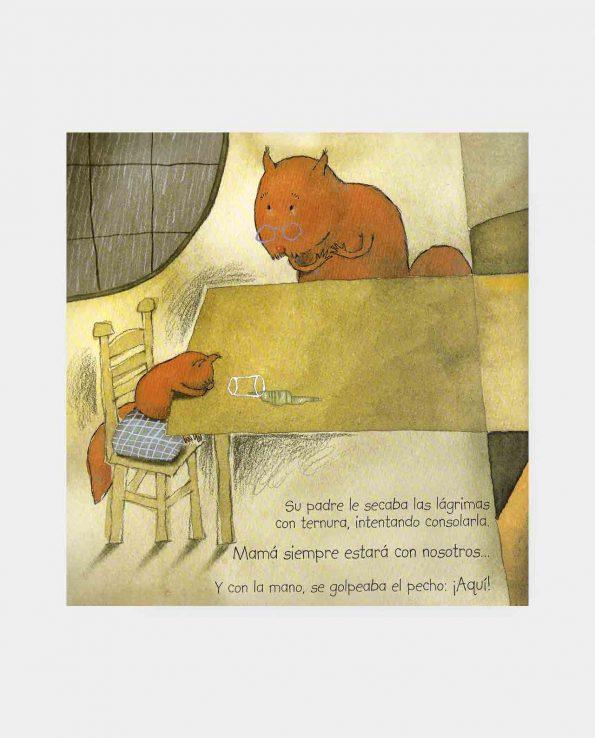 Libro ilustrado infantil ¡No es fácil, pequeña ardilla! para entender la muerte