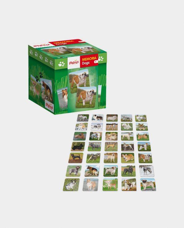 Juego de memoria para niños con fotos de perros Memoria Dogs de Ludattica
