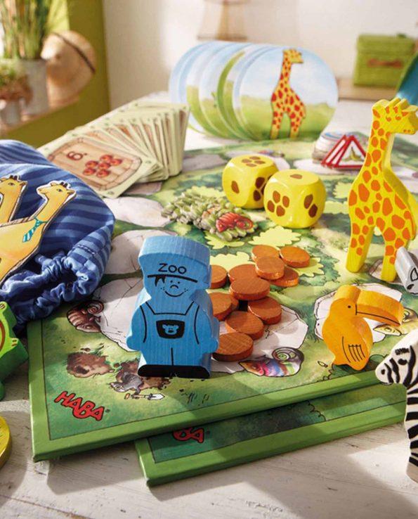Mi primer juego para aprender El Zoo de Haba Juego de mesa para niños con animales del zoo
