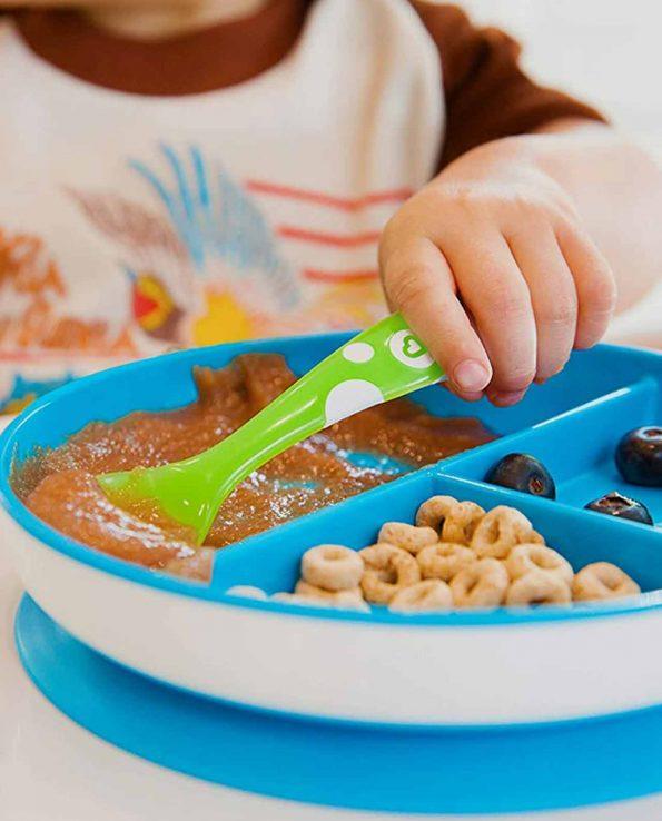Platos para niós y bebés con ventosa con compartimentos BLW Baby led weaning